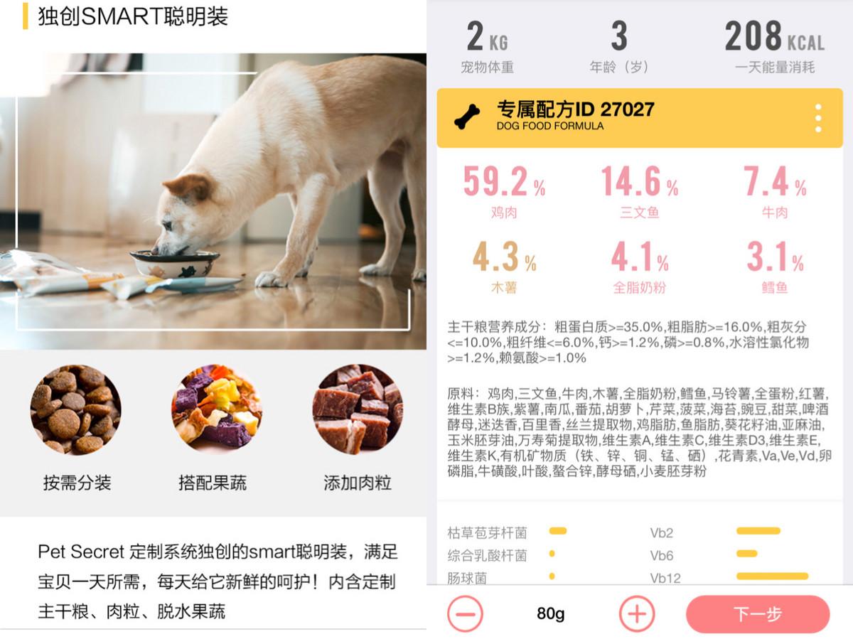 狗粮也要定制,「鲜宠机密」从个性化和小包装切入市场